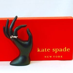 KATE SPADE~love notes~SILVER BOW RING~SIZE 6